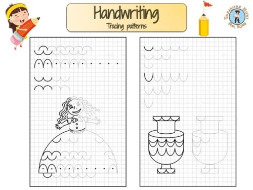 Tracing pattern for handwriting worksheet