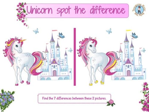 Unicorn spot the difference game