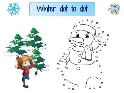 Winter dot to dot : snowman
