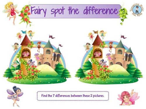 Fairy spot the difference game