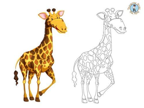 Giraffe printable coloring page