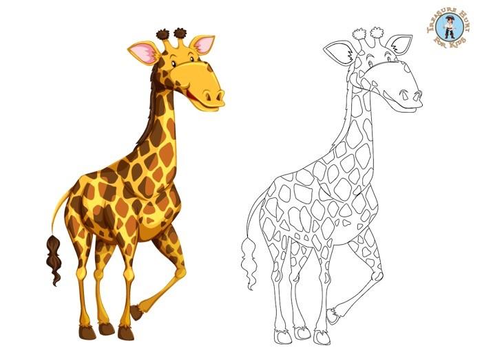 Giraffe Coloring Page - Free Printables - Treasure Hunt 4 Kids
