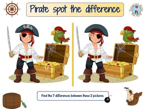 Pirate island spot the difference