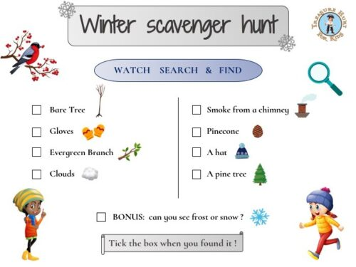 Winter scavenger hunt