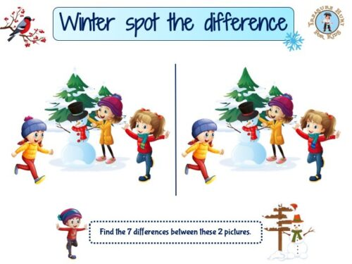 Winter spot the difference game