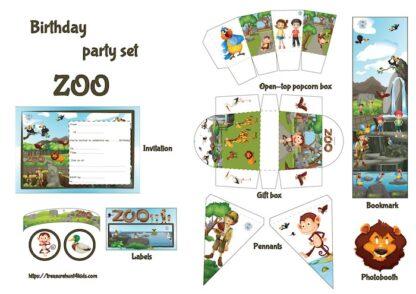 Zoo birthday party printables