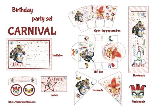 Carnival party printables for kids