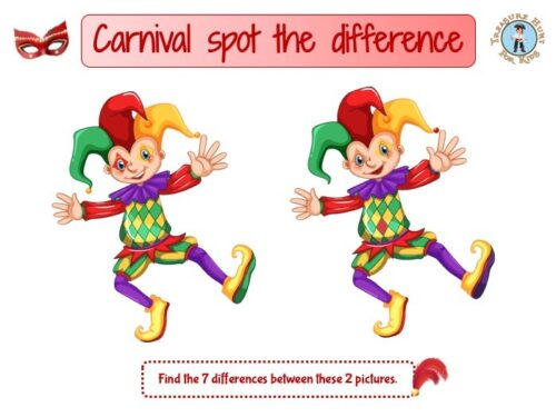 Carnival spot the difference
