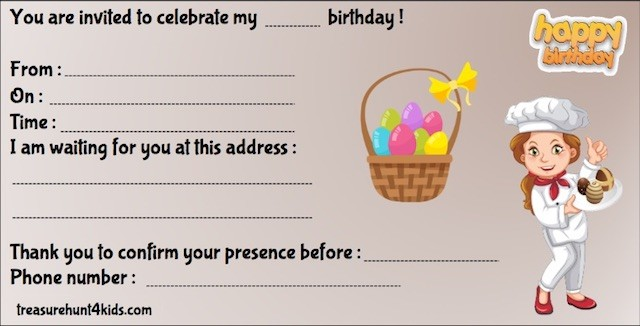 Easter party invitation to print