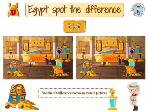 Egypt spot the difference