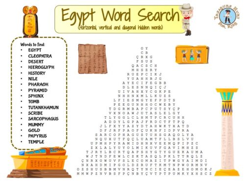 Egypt word search