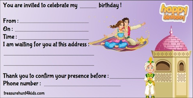 Fairy Tale birthday party invitation