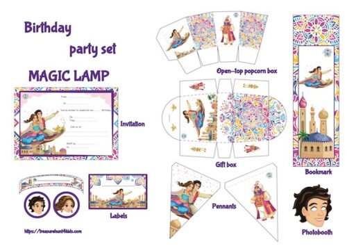 Fairy tale birthday party printables for unique decoration