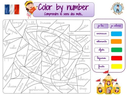 French color by number