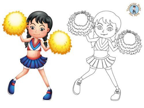 Pom Pom Girl coloring page