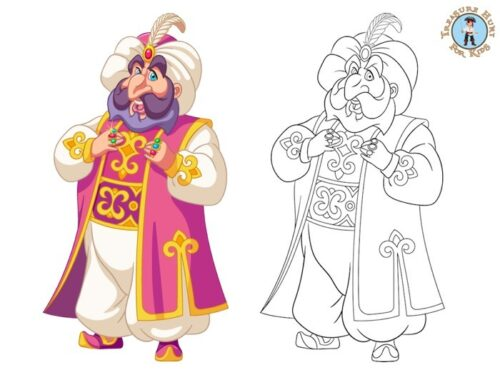 Sultan Coloring page for kids to print
