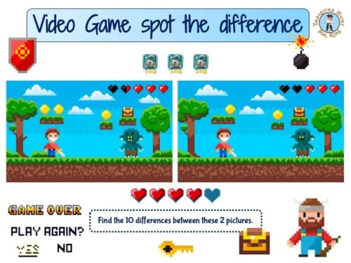 Video Game spot the difference