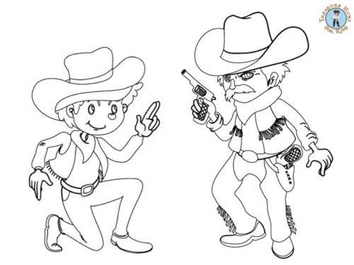 Western coloring page