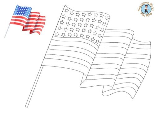 American flag coloring page - United States of America