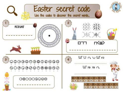 Easter secret code to print for kids