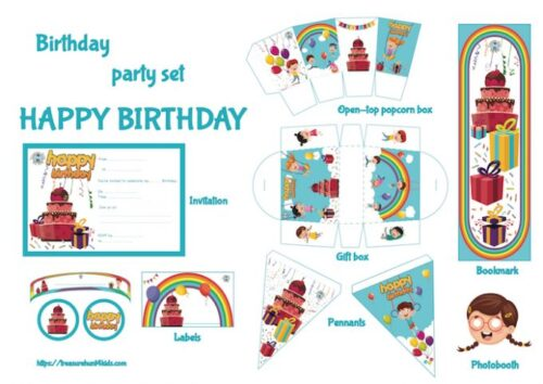 birthday party printables