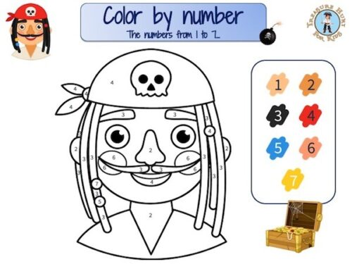 Pirate color by number