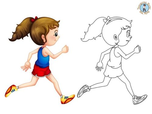 Running coloring page