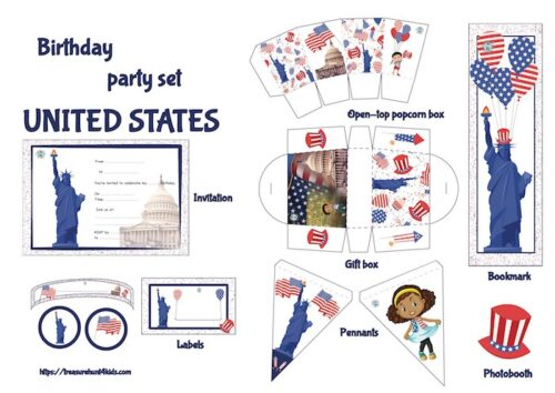 United States party supplies and decoration to print