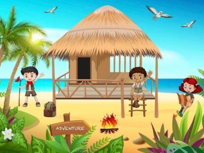 Printable adventure treasure hunt for kids activity