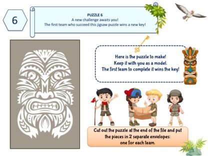 Adventure treasure hunt clue for kids : role-playing game