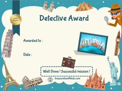 Around the world detective certificate