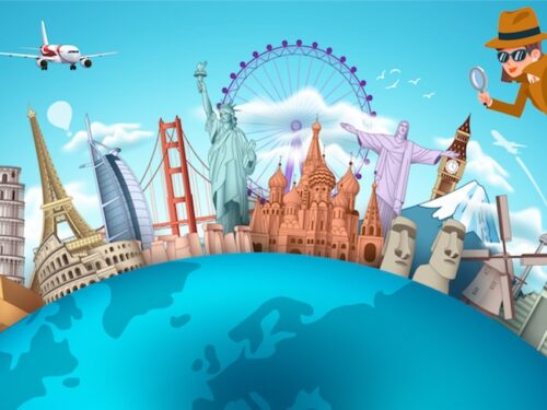 Around the world party game for kids