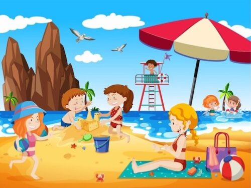 Print and play beach mystery game for kids