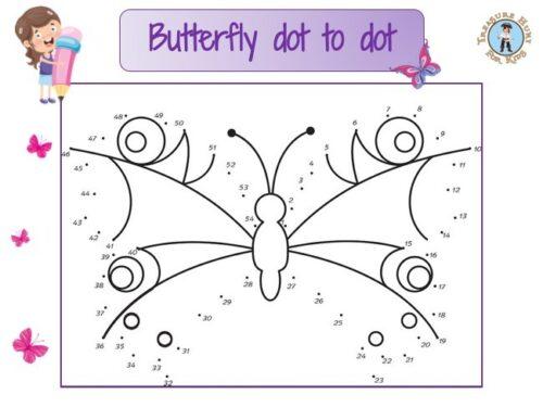 Butterfly dot to dot