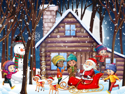 Christmas mystery game: help Santa Claus to find his reindeer