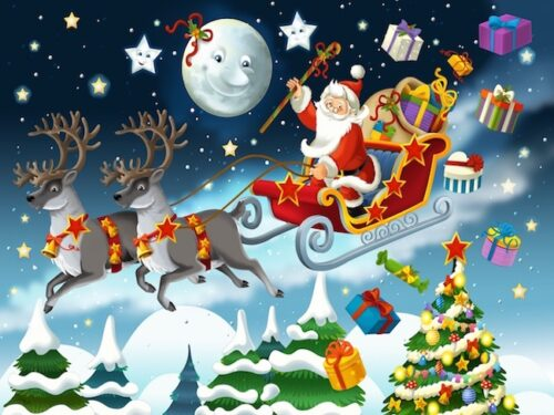 Christmas treasure hunt game for 6-7 year olds