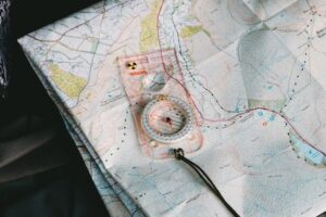 Compass and orienteering game for kids