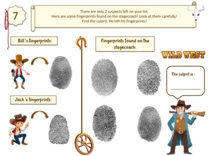 Print and play cowboy treasure hunt clue