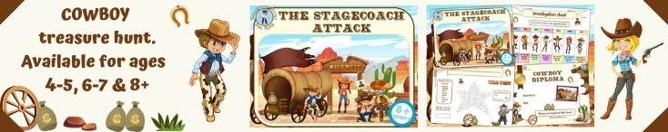 Cowboys treasure hunt game for kids!