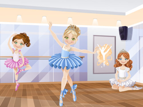 Dance birthday party game to print for kids aged 4-5 years.