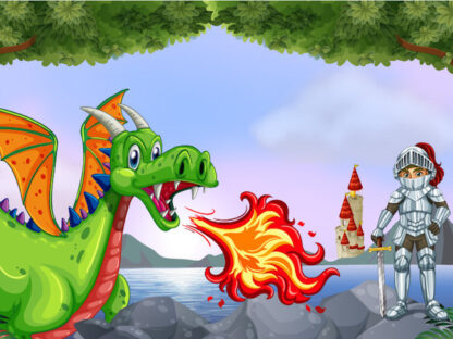 Printable dragon treasure hunt game