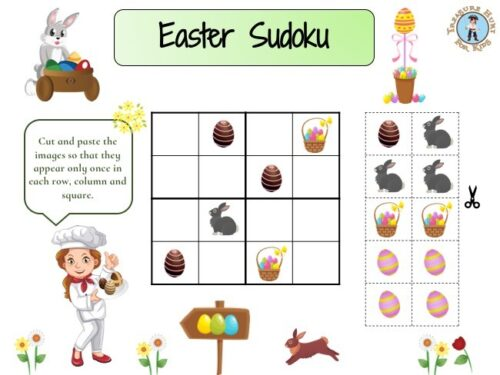 Easter sudoku puzzle game
