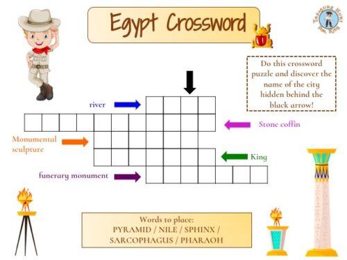 Egypt crossword puzzle to print