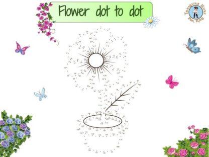 Flower dot to dot
