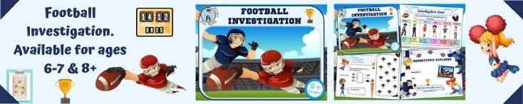 Printable detective mystery game at the football stadium