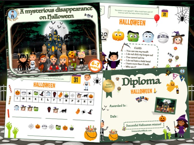Halloween mystery party game for kids