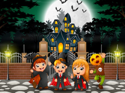 Halloween treasure hunt game to print