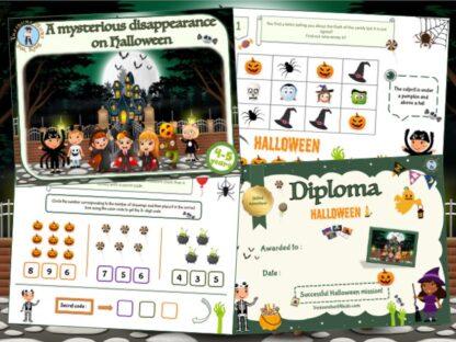Halloween treasure hunt party game