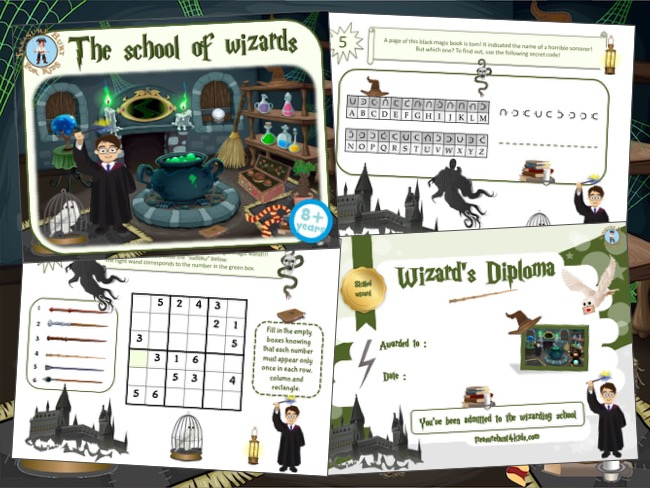 Harry Potter birthday party game for kids to print