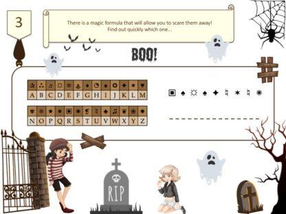 Haunted Manor treasure hunt secret code for kids
